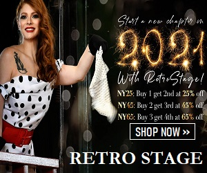 Shop timeless retro style clothes only at Retro-stage.com