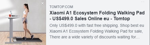 Xiaomi A1 Ecosystem Folding Walking Pad Coupon: HYXATT Price: $375 Delivered from EU Warehouse