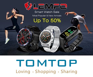 Lemfo smart watch up to 50% at tomtop