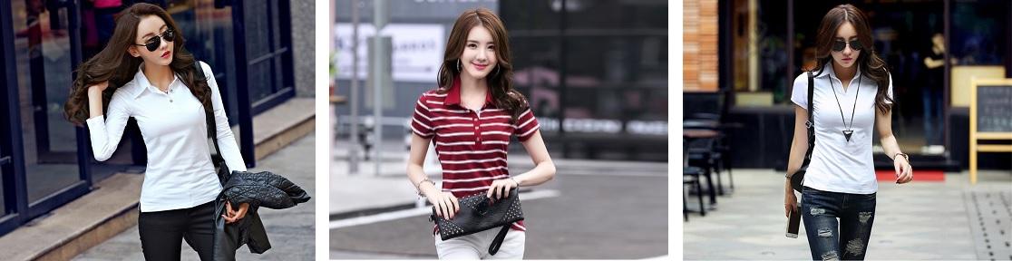 millennial ladies in their stylish women polo shirt