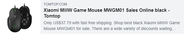 53% OFF for Xiaomi MIIIW Game Mouse MWGM01
