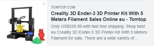 Creality 3D Ender-3 3D Printer Kit With 5 Meters Filament Coupon: HYEDERE Price: €153.96 Delivered from EU Warehouse