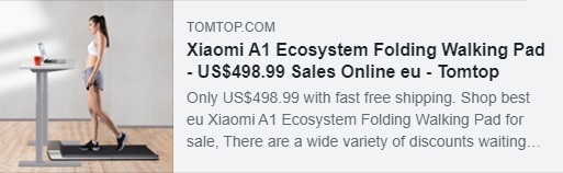 Xiaomi A1 Ecosystem Folding Walking Pad Coupon: HYAXMAEW Price: €359.84 Delivered from EU Warehouse