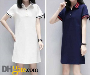 polo shirt dress looks good on ladies