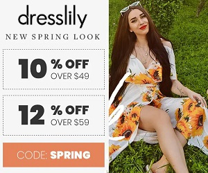 dresslily's good deals with the code spring