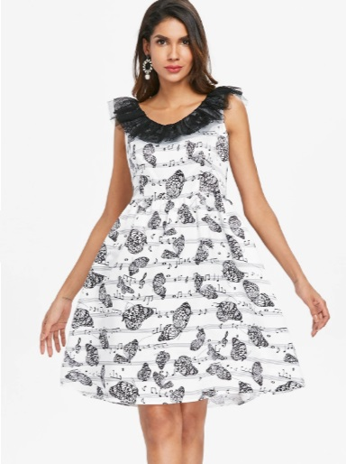 all over printed dress
