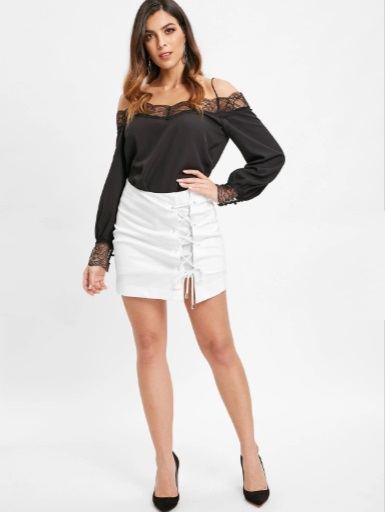 black top and white bottom - shoppeers