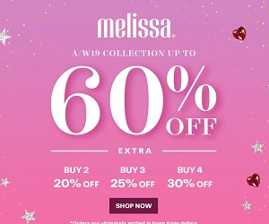 60% off on Melissa Women's Flat Shoes and Sandals