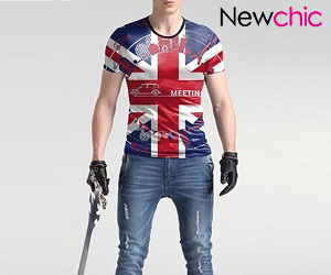 light denim clothing style for teenage guy at newchic