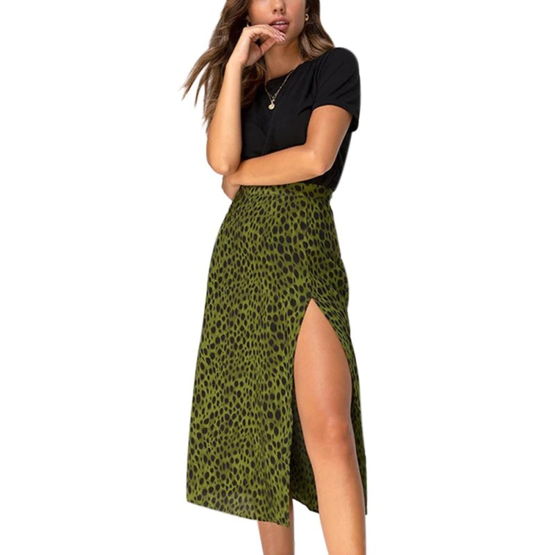 classic formal look in a Long straight skirt with side slits