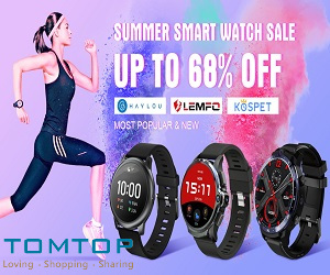 Tomtop's smart watch sale up to 68% off