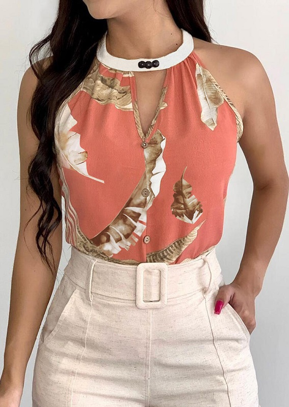 elegant look camisole tucked in lady skirt