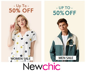 up to 50% off sale on newchic