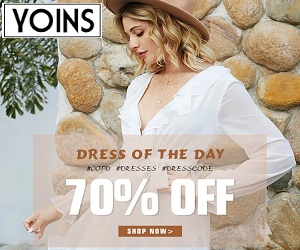 dress of the day at yoins 70% off