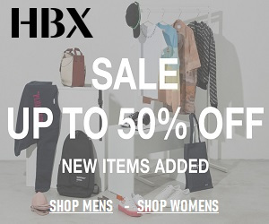 HBX offers everything from Apparel, Accessories to kids clothing