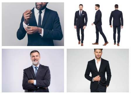 Dark Two-Piece Suit: Traditional Outfits for Men