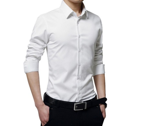 Plain White Button-Down Shirts: Suited Outfits for Working Men