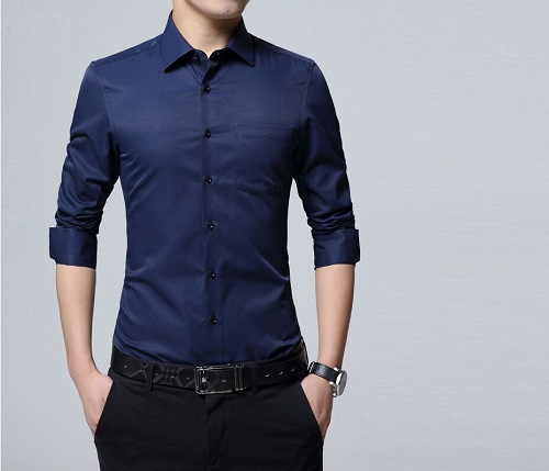 Solid Colored Button-Down Shirt: Fitting Outfits for Guys at Work