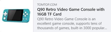 Q90 Retro Video Game Price: $26.99