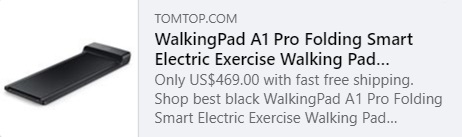Xiaomi WalkingPad A1 Pro Folding Smart Electric Exercise Walking Pad Treadmill Machine Code: HYAQW Price: €390.99 Delivered from EU Warehouse, Free Shipping